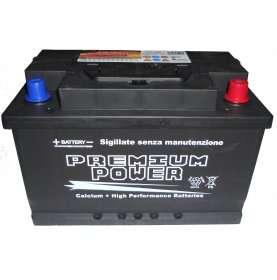 Batteria auto PREMIUM POWER 82 Ah spunto 740A polo positivo destra L3 278x175x190