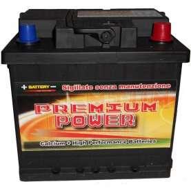 Batteria auto PREMIUM POWER 55 Ah spunto 520A polo positivo destra LB1 207x175x190