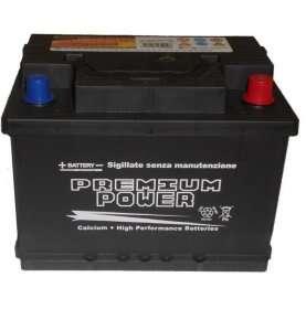 Batteria auto PREMIUM POWER 65 Ah (alta) spunto 570A polo positivo destra L2 242x175x190