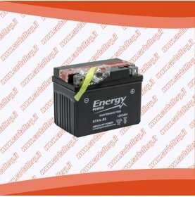 Batteria moto YTX4L-BS ENERGY POWER 3 Ah sigillata con acido polo positivo destra 114x70x85