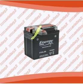Batteria moto YTX5L-BS ENERGY POWER 4 Ah sigillata con acido polo positivo destra 114x70x105