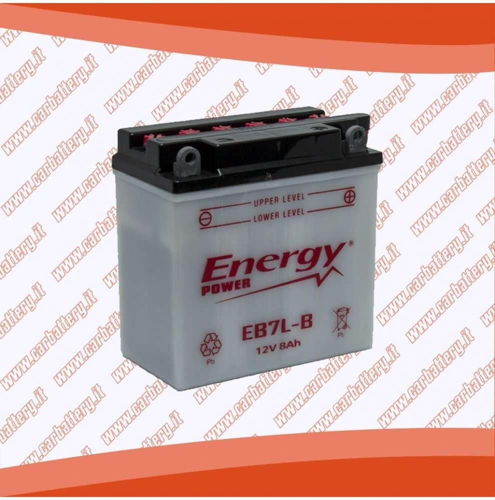 Batteria moto YB7L-B ENERGY POWER 8 Ah polo positivo destra 135x75x133