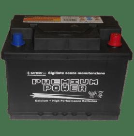 Batteria auto PREMIUM POWER 65 Ah spunto 570A polo positivo Destra LB2 242x175x175