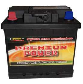 Batteria auto PREMIUM POWER 50 Ah spunto 470A polo positivo sinistra LB1 207x175x190