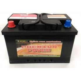 Batteria auto PREMIUM POWER 74 Ah spunto 670A polo positivo Sinistra LB3 278x175x175