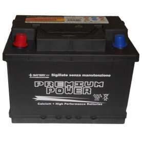 Batteria auto PREMIUM POWER 65 Ah spunto 570A polo positivo Sinistra LB2 242x175x175